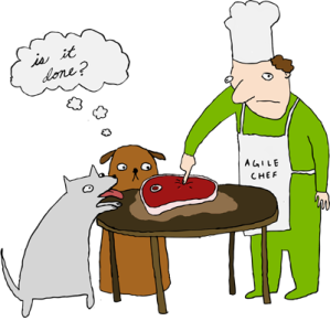 definition-of-done-in-agile-project-methodology-dog-chef-steak-illustration-sharepoint-development-magenic-custom-software-development
